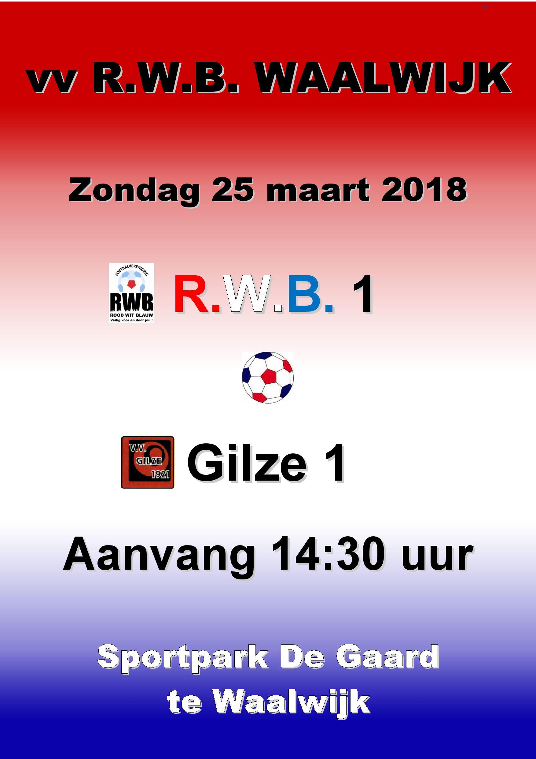 Volgende wedstrijd RWB1